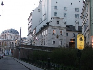 Colour Photograph of Schreyvogelgasse in Vienna. Click to enlarge. Photograph taken by CJ Walsh. 2008-03-15.