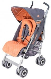 Colour photograph of one model of the Recalled MACLAREN Baby Strollers in the USA.  Photograph from U.S. CPSC WebSite.