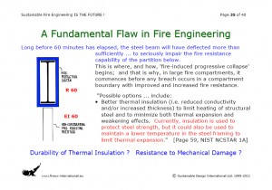 Colour image showing Page 35 from my Overhead Presentation on 'Sustainable Fire Engineering' ... scheduled for this Thursday, 22 September 2011, at the ASFP Ireland Fire Seminar & Workshop ... to be held at the RDS, in Ballsbridge, Dublin. Click to enlarge.