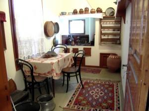 Colour photograph showing an interior view of the House and Museum ... the Family Kitchen. Photograph taken by CJ Walsh. 2012-04-24. Click to enlarge.