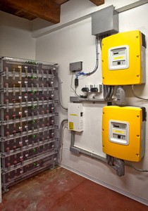 RMI / Amory Lovins House, Colorado, USA - Interior - Battery Array