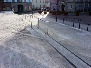 Dublin Castle Printworks Building – Main Entrance Steps